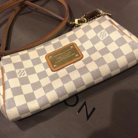 40f932cc281d Louis Vuitton Handbags - EVA DAMIER AZUR code N55214